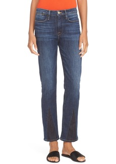 FRAME High Waist Straight Jeans (Bay)