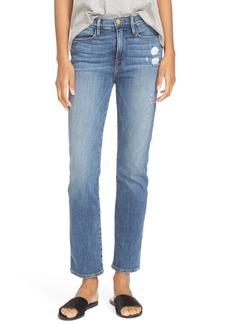 FRAME High Waist Straight Leg Jeans (Sunny Gardens)