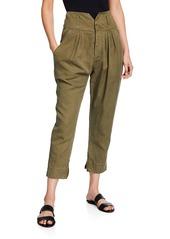 FRAME High-Rise Utility Harem Pants
