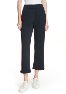 FRAME High Waist Crop Track Pants