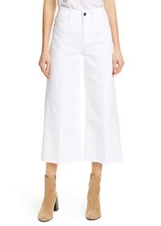FRAME High Waist Crop Wide Leg Jeans (Blanc)