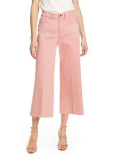 FRAME High Waist Crop Wide Leg Jeans (Peony) (Nordstrom Exclusive)