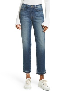 FRAME High Waist Released Hem Crop Jeans (Granby)