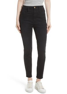 FRAME High Waist Skinny Jeans (Noir)
