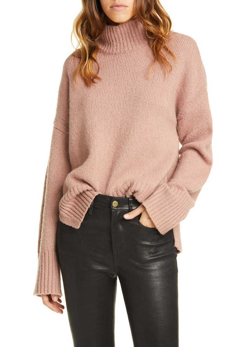 FRAME High/Low Wool Blend Sweater