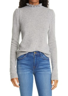 FRAME Josefine Ruffle Neck Cashmere Sweater