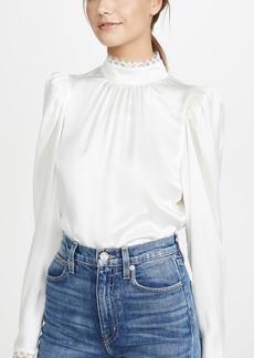 FRAME Lace Cuff Top
