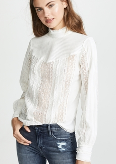 FRAME Lace Embroidered Blouse