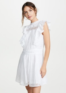FRAME Lace Pintuck Dress
