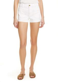 FRAME Le Bardot Denim Shorts (Blanc)