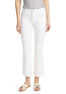 FRAME Le Bardot Patch Pocket Crop Flare Jeans (Blanc)