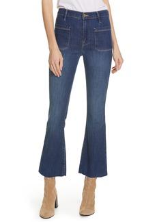 FRAME Le Bardot Patch Pocket Crop Flare Jeans (Menara)