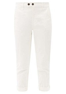 Frame Le Beau cotton-blend cropped chino trousers