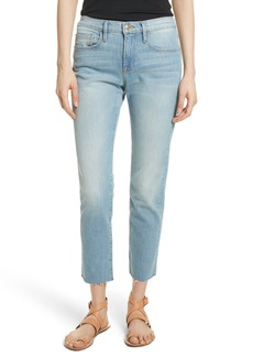 FRAME Le Boy High Waist Raw Hem Jeans (Pamder End)