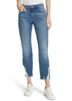 FRAME Le Boy Ripped Straight Leg Jeans (Clover Hill)