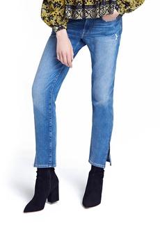 FRAME Le Boy Zip Hem Crop Jeans (Picadilly) (Nordstrom Exclusive)