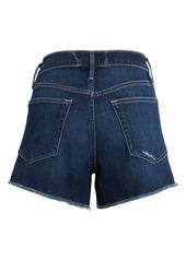 FRAME Le Brigette High Waist Side Slit Denim Shorts (Azuza)