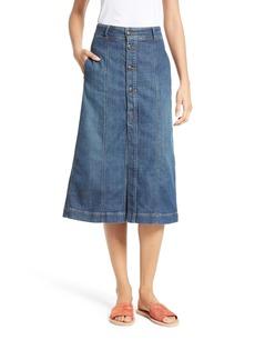 FRAME Le Button Denim Skirt (Getty)