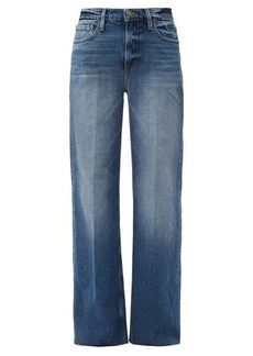 Frame Le California stretch-cotton wide-leg jeans