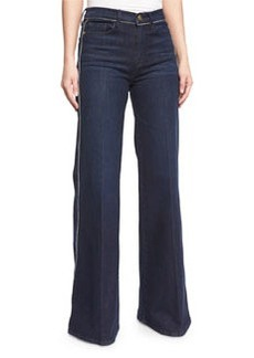 FRAME Le Capri Piping Wide-Leg Jeans