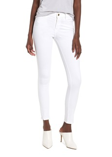 FRAME Le Color High Waist Skinny Jeans (Blanc)