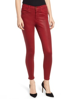 FRAME Le Color High Waist Skinny Jeans (Hunter Red Coated)