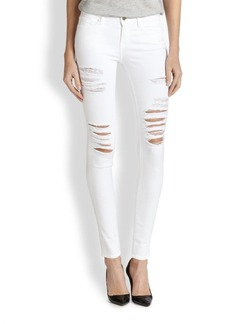 FRAME Le Color Distressed Skinny Jeans