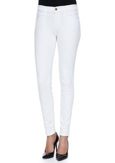 FRAME Le Color Skinny Denim Jeans  Blanc De Blancs
