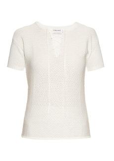 Frame Le Crochet cotton-blend top