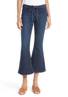 FRAME Le Crop Bell Lace-Up Jeans (Hayworth) (Nordstrom Exclusive)