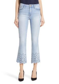 FRAME Le Crop Eyelet Hem Mini Boot Jeans (Adelaide)
