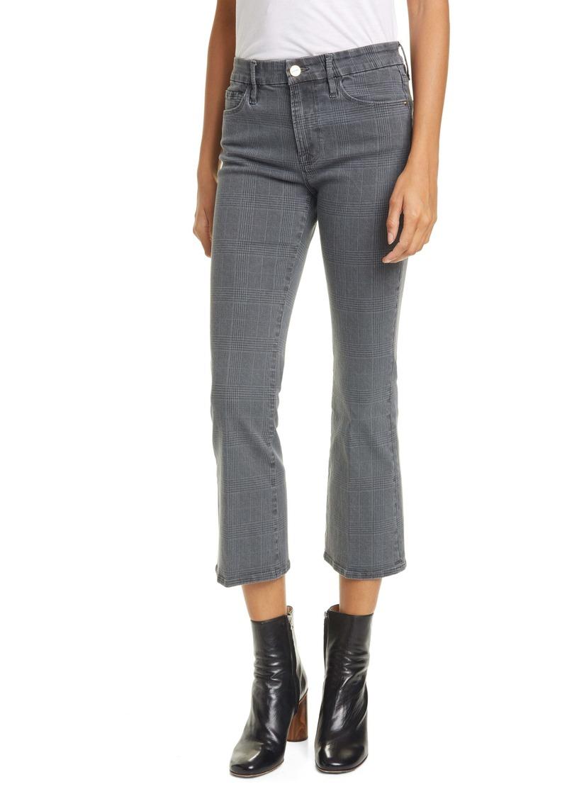 FRAME Le Crop High Waist Mini Bootcut Pants