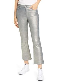 FRAME Le Crop Metallic Leather Mini Boot Pants