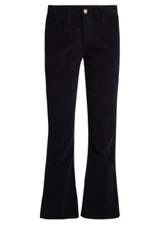Frame Le Crop Mini Boot corduroy cropped trousers