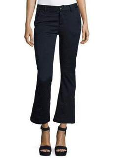 FRAME Le Crop Mini Boot-Cut Chino Pants