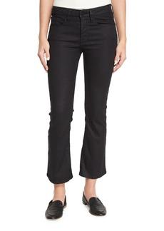 FRAME Le Crop Mini Boot-Cut Coated Jeans