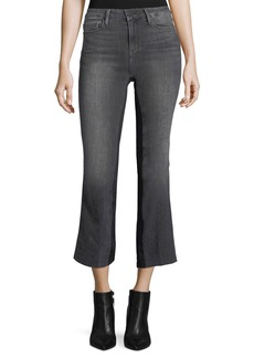 FRAME Le Crop Mini Boot-Cut Gusset Ankle Jeans w/ Raw-Edge
