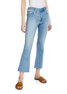 FRAME Le Crop Mini Boot-Cut Jeans with Braided Waistband