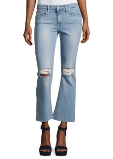FRAME Le Crop Mini Boot-Cut Jeans with Raw Edge
