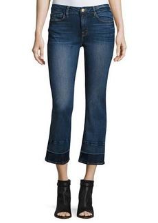 FRAME Le Crop Mini Boot-Cut Jeans w/Wide Released Hem
