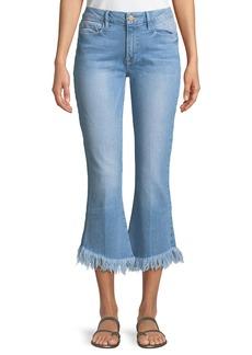 FRAME Le Crop Mini Boot Shredded Raw Jeans