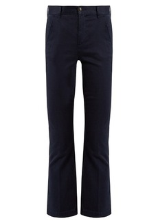 Frame Le Crop Mini Boot stretch-cotton chino trousers