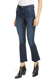 FRAME Le Crop Raw Edge Flare Cropped Jeans (Rowland)