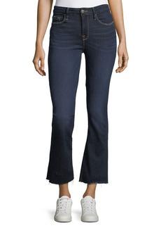 FRAME Le Crop Raw-Edge Hem Mini Boot Jeans