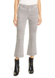 FRAME Le Cropped High Waist Mini Plaid Bootcut Jeans