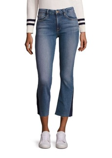 FRAME Le Cropped Mini Bootcut Raw-Edge Jeans