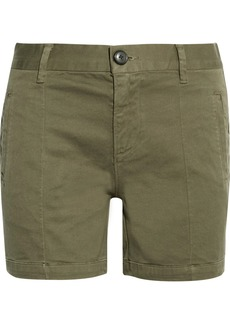 FRAME Le Cuffed cotton-blend shorts