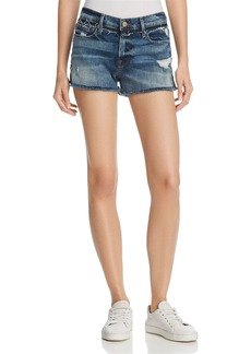 FRAME Le Cut Off Released Waistband Shorts in Rookley