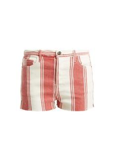 Frame Le Cut Off striped shorts