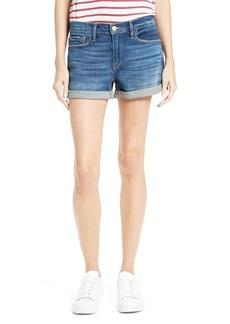 FRAME Le Cutoff Cuff Denim Shorts (Plummer)